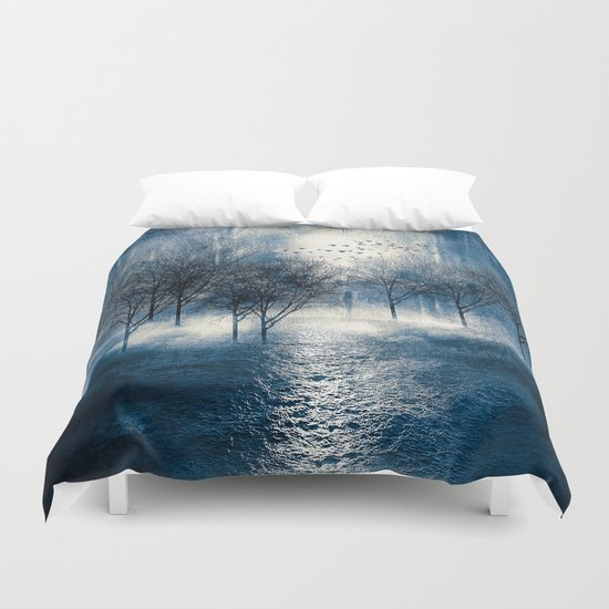 Paisaje y color (azul) Duvet Cover