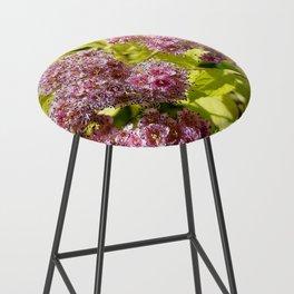 Lilac flowers Bar Stool