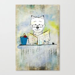 West Highland White Terrier ~ Westie ~ Sophisticated Wally ~ Ginkelmier Canvas Print