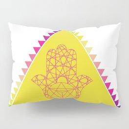 Merkaba Triangle Yellow Pillow Sham