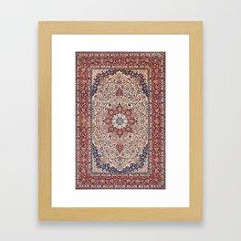 Esfahan Central Persian Antique Rug Print Framed Art Print