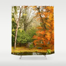 Willow in Autumn colors Shower Curtain
