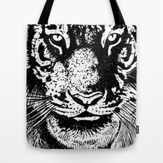 Stare tiger head Tote Bag