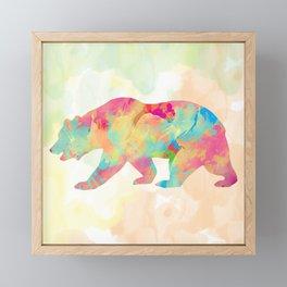 Abstract Bear Framed Mini Art Print