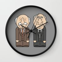 muppets Wall Clocks featuring Statler & Waldorf – The Muppets by Big Purple Glasses