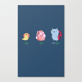 Catbug Evolution Canvas Print