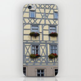 Flower Boxes on Timbered Building iPhone Skin