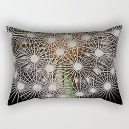 Abstract Dandilion Seeds Rectangular Pillow
