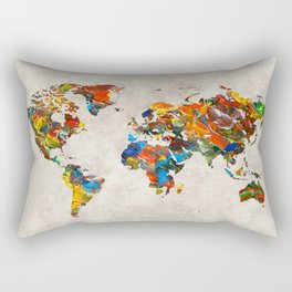 World Map 43 Rectangular Pillow