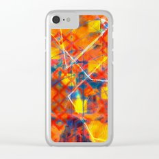 orange town Clear iPhone Case