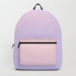 Pale Pink to Pale Violet Linear Gradient Backpack