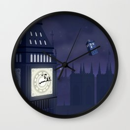 Second Star to the Right, Straight on to Gallifrey Wall Clock