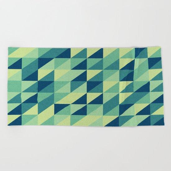 turquoise pattern Beach Towel