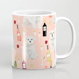 Maltese dog breed wine champagne summer pattern dog gifts pet friendly dogs Coffee Mug