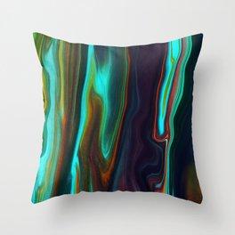 Abstract Visual Design - Digital Marble Art Throw Pillow