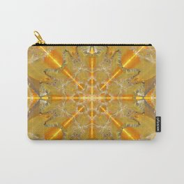 Gold Opal Star Mandala Carry-All Pouch