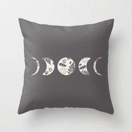 Lunar Nature Throw Pillow