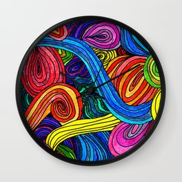 Psychedelic Lines Wall Clock
