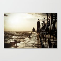 Waves;Grand Haven Canvas Print