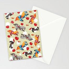 Паттерн с лошадками Stationery Cards