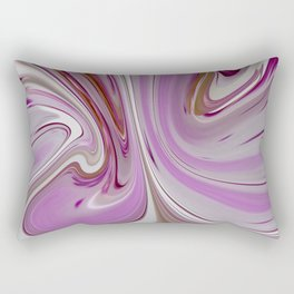 Pink Waves Rectangular Pillow