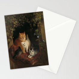 Henriëtte Ronner - Cat with kittens (1844) Stationery Cards