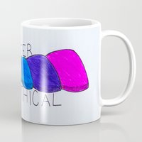 queer Mugs featuring Queer, Not Mythical by reallydorky