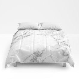 White marble hexagonal beehive Comforters