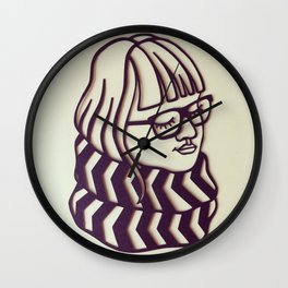 Glasses & Scarf Wall Clock
