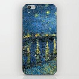 Van Gogh Starry Night Over the Rhone iPhone Skin