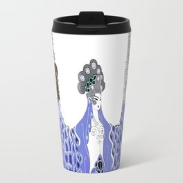 "Art Deco Design ""Pacific Ocean"" by Erté Travel Mug"