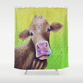 Jersey Cow Painting Shower Curtain