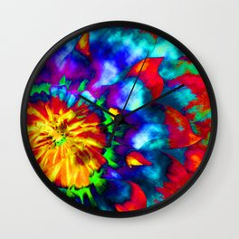 Groovy Tie Dyed Square Wall Clock