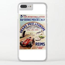 Gran Prix de LACF, Reims, 1959, original vintage poster Clear iPhone Case