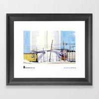 """Shari Blaukopf, """"Water Tower"""" Framed Art Print"""