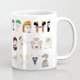 P&F Alphabet Coffee Mug