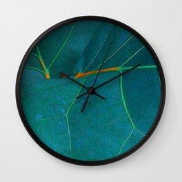Two Sea Grape Leaves Wall Clock
