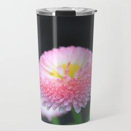 Kayla's Pink Flower Travel Mug