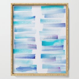 7 | 181101 Watercolour Palette Abstract Art | Lines | Stripes | Serving Tray