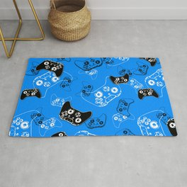 Video Game in Blue Rug