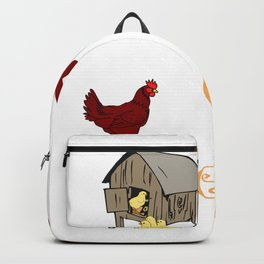 I Need All the Chickens Gift for Farmers and Coops  Design Backpack