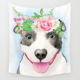 Pittie Love Wall Tapestry