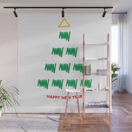 Unusual Christmas tree. Abstract Christmas gift Wall Mural