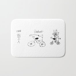 UX/UI Bike Sketch - User Experience Rocks Bath Mat