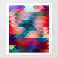 triangle Art Prints featuring TRIANGLE by Hands in the Sky