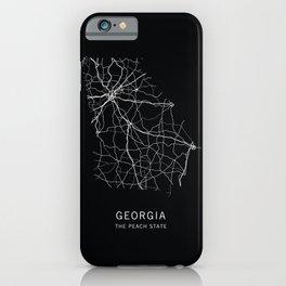 Georgia State Road Map iPhone Case