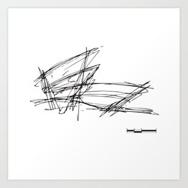Gehry Doesn't Sketch to Scale Art Print