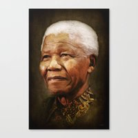 mandela Canvas Prints featuring Mandela by Kimberley Britt