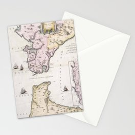 Vintage Map of The Strait of Gibraltar (1780) Stationery Cards