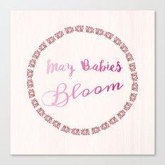 Blooming May Babies Canvas Print